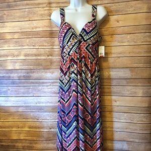 Carly St Claire Maxi Dress Multicolor Medium NWT